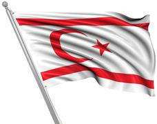 Flag of the Turkish Republic of Northern Cyprus Stock Illustration