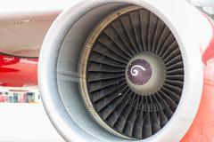 Turbine of airplane Stock Photos