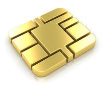 Credit Card Chip Stock Illustration