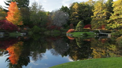 Asticou Azalea Garden in Autumn, Northeast Harbor, Maine Stock Footage