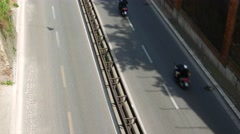 Traffic in Rome as seen from above Stock Footage