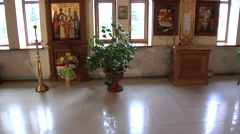 The Man Visits a Donetsk Temple at Metal Works. Stock Footage