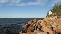 Bass Harbor Head lighthouse, Acadia National Park Stock Footage
