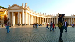 Tourists visit the Vatican - stock footage