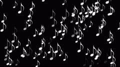 4k Music Notes background,symbol melody melody sound,romantic artistic symphony Stock Footage