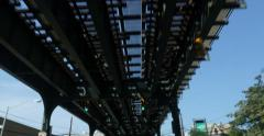 Driving Under Overhead New York Railroad 4K Stock Video Stock Footage