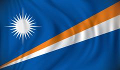 Stock Illustration of Flag of Marshall Islands