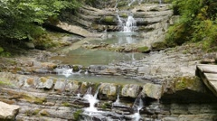 Agura waterfalls. Upper Falls. Sochi, Russia. 1280x720 Stock Footage