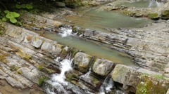 Agura waterfalls. Sochi, Russia. 1280x720 Stock Footage