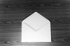 envelope black and white color tone style - stock photo