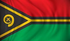 Flag of Vanuatu - stock illustration