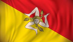 Stock Illustration of Flag of Sicily