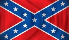 Flag of Confederate - stock illustration
