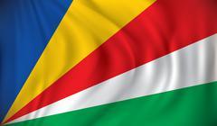 Stock Illustration of Flag of Seychelles