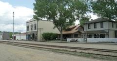 Main Street Fort Edmonton Stock Footage