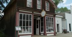 Eye Doctor's office in Fort Edmonton Stock Footage