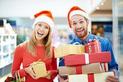Christmas shopping Kuvituskuvat
