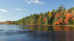 Eagle Lake morning, Acadia National Park in Autumn - stock footage