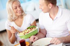 Dining couple Stock Photos