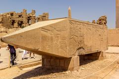 Remain of the Obelisk of Hatshepsut Stock Photos