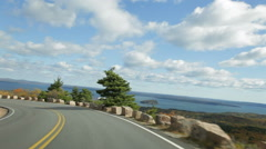 Cadillac Summit road driving, Acadia Stock Footage