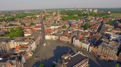 Aerial of De Markt in 's-Hertogenbosch Stock Footage