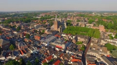 Aerial of The Sint Jan Cathedral in 's-Hertogenbosch Stock Footage