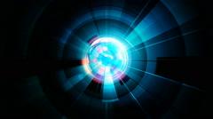 blue centrifugal energy - stock footage