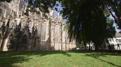 Sint Jan Cathedral Garden Circulair Tracking Steadicamshot  Stock Footage
