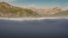 Summer alpine landscape Mont Malamot low clouds time lapse Stock Footage
