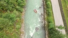 River Rafting  wild water in Austria Stock Footage