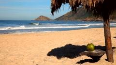 Tropical Beach, Rio de Janeiro. Stock Footage