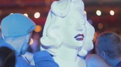 Marilyn manroe nude mannequin Stock Footage