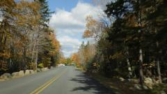 Park Loop Road time lapse, Autumn, Acadia National Park Stock Footage