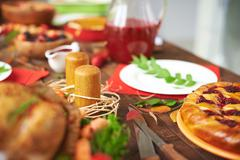 Abundant table - stock photo