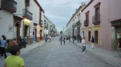 Stock Video Footage of Oaxaca Street 4k