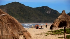 Grumari Beach, Rio de Janeiro Stock Footage