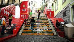 Lapa Steps, Rio de Janeiro Stock Footage