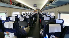 Railway carriage of high speed train in China Stock Footage