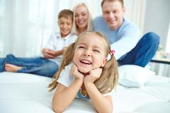 Cheerful offspring - stock photo
