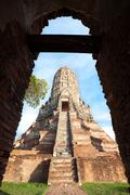 Main chedi at Wat Chaiwatthanaram, Ayutthaya, Thailand Stock Photos