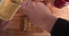 Point Of View Shot Of Pouring Muesli Into Bowl - stock footage