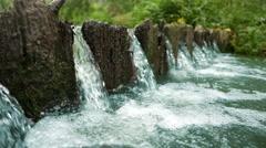 Water threshold. Stock Footage