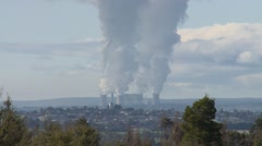 Power Station issues Smoke Steam to upper Atmosphere (Static) Stock Footage