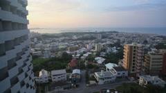 Pan of Okinawa skyline Stock Footage