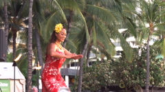 Hawaiian hula dancer Stock Footage