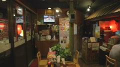 Pan - traditional japanese restaurant in miyako Stock Footage
