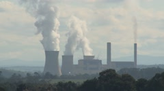 Power Station Steam & Smoke Issue (Static) Stock Footage