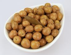 Arbequina olives - stock photo
