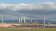 Coal Mine Power Station & Cloudy Sky (Timelapse) Stock Footage